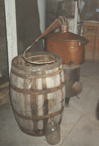 Moonshine still from 1920s
