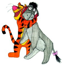 tigger_and_eeyore_by_inkartwriter-d57k6yi